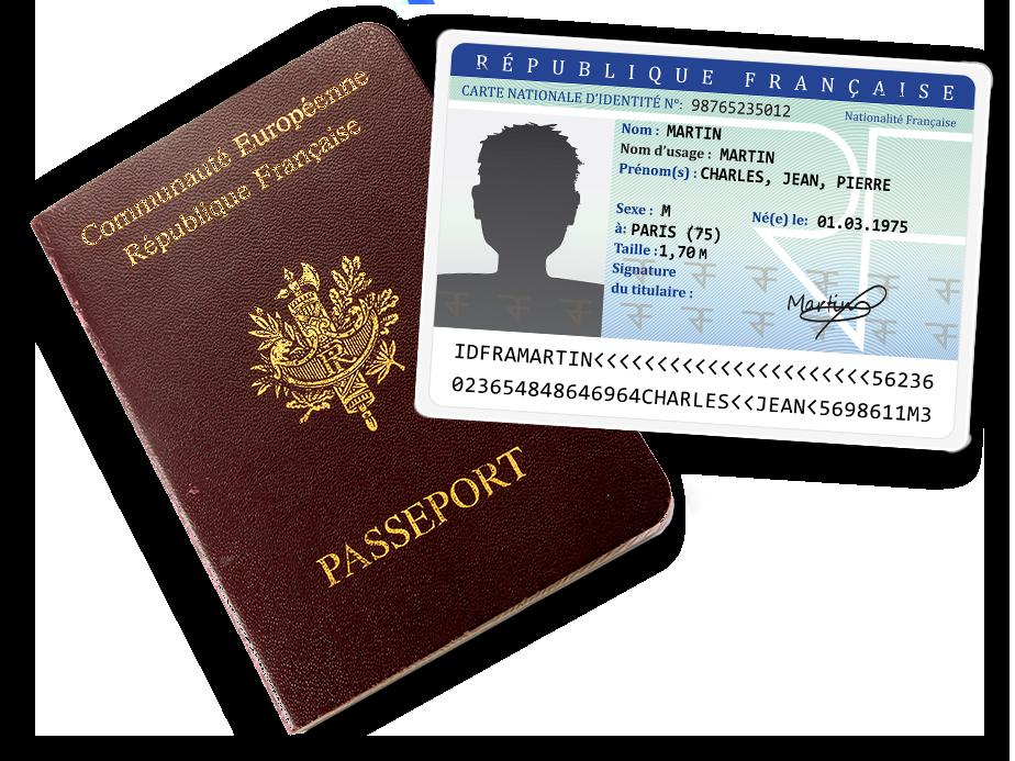 passeport et carte d identité Carte d'identité et passeport